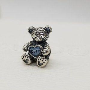 Pandora Disney Duffy silver charm w/ blue enamel